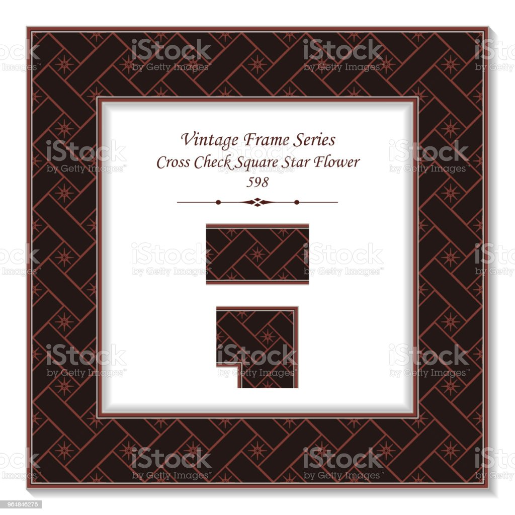 Vintage square 3D frame cross check square star flower royalty-free vintage square 3d frame cross check square star flower stock vector art & more images of backdrop