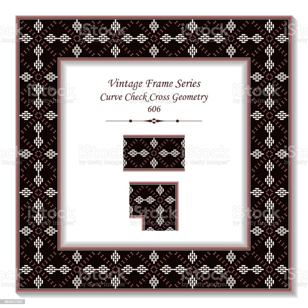 Vintage square 3D frame curve check cross geometry royalty-free vintage square 3d frame curve check cross geometry stock vector art & more images of backdrop - artificial scene