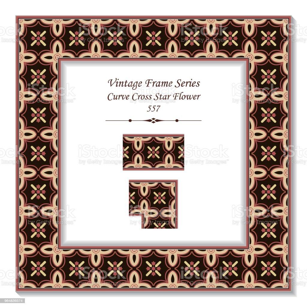 Vintage square 3D frame curve cross star flower royalty-free vintage square 3d frame curve cross star flower stock vector art & more images of backdrop