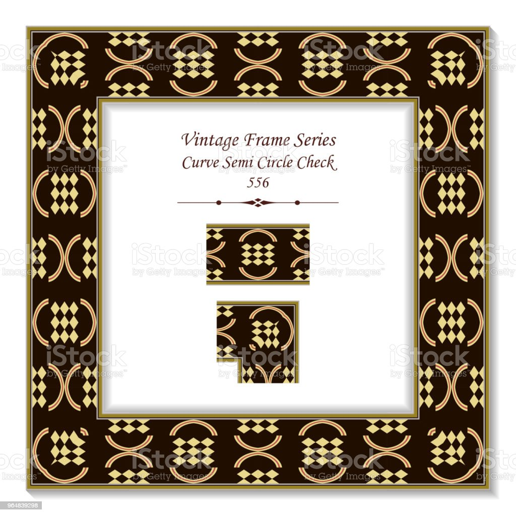 Vintage square 3D frame curve semi circle check geometry royalty-free vintage square 3d frame curve semi circle check geometry stock vector art & more images of backdrop - artificial scene