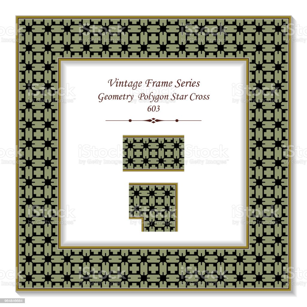Vintage square 3D frame geometry polygon star cross royalty-free vintage square 3d frame geometry polygon star cross stock vector art & more images of backdrop - artificial scene