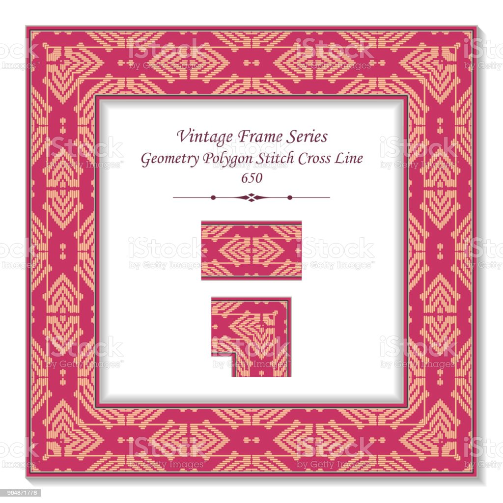 Vintage square 3D frame geometry polygon stitch cross line royalty-free vintage square 3d frame geometry polygon stitch cross line stock vector art & more images of backdrop