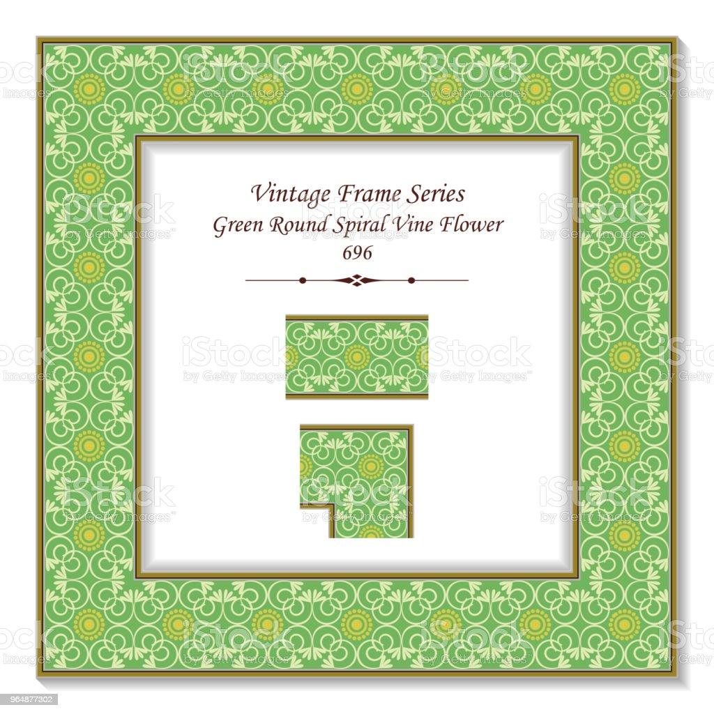Vintage square 3D frame green curve spiral cross vine flower royalty-free vintage square 3d frame green curve spiral cross vine flower stock vector art & more images of backdrop