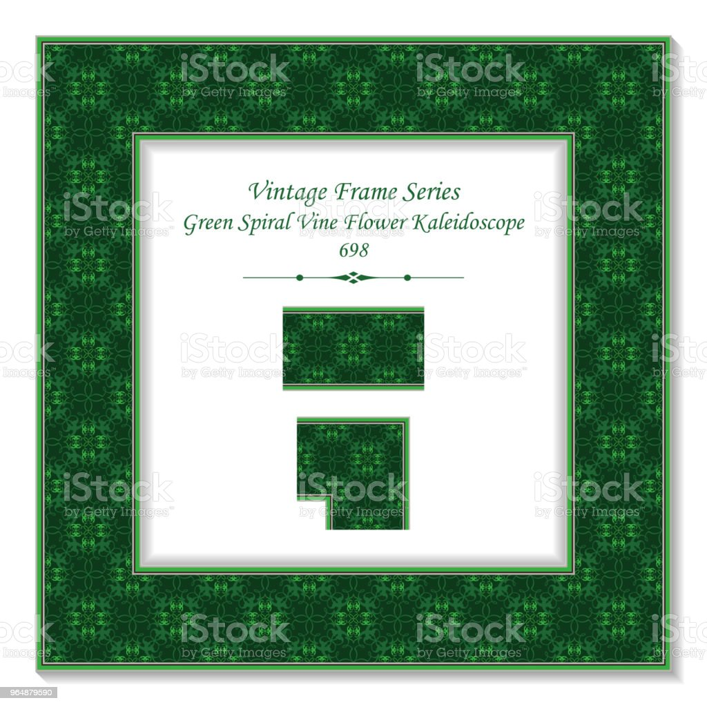 Vintage square 3D frame green spiral cross vine flower kaleidoscope royalty-free vintage square 3d frame green spiral cross vine flower kaleidoscope stock vector art & more images of baroque style