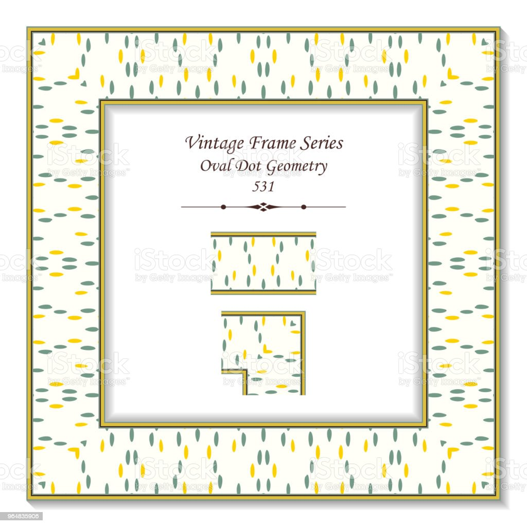 Vintage square 3D frame oval dot geometry royalty-free vintage square 3d frame oval dot geometry stock vector art & more images of backdrop - artificial scene