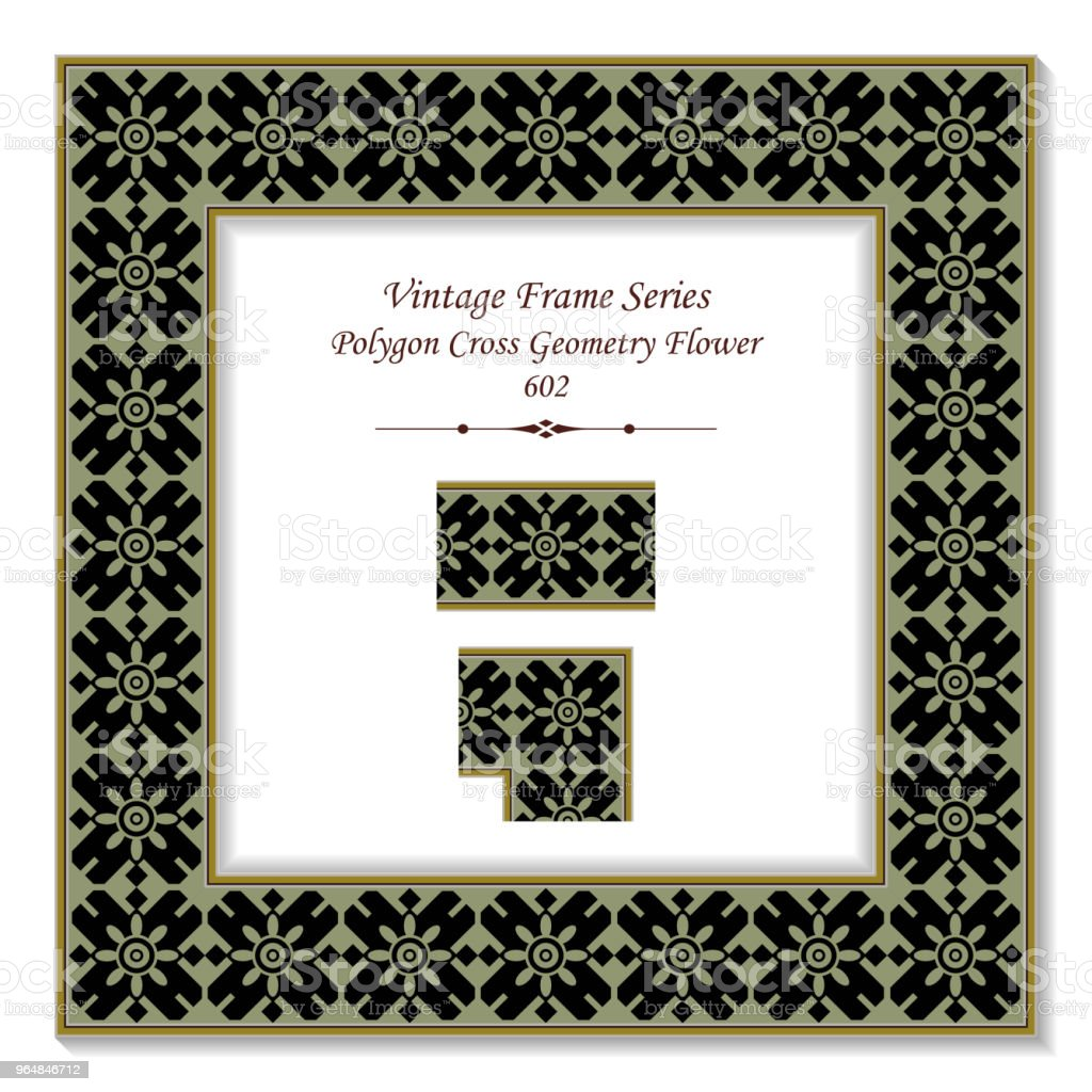 Vintage square 3D frame polygon cross geometry flower royalty-free vintage square 3d frame polygon cross geometry flower stock vector art & more images of backdrop - artificial scene