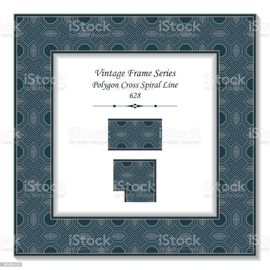 Vintage square 3D frame polygon cross spiral line royalty-free vintage square 3d frame polygon cross spiral line stock vector art & more images of backdrop