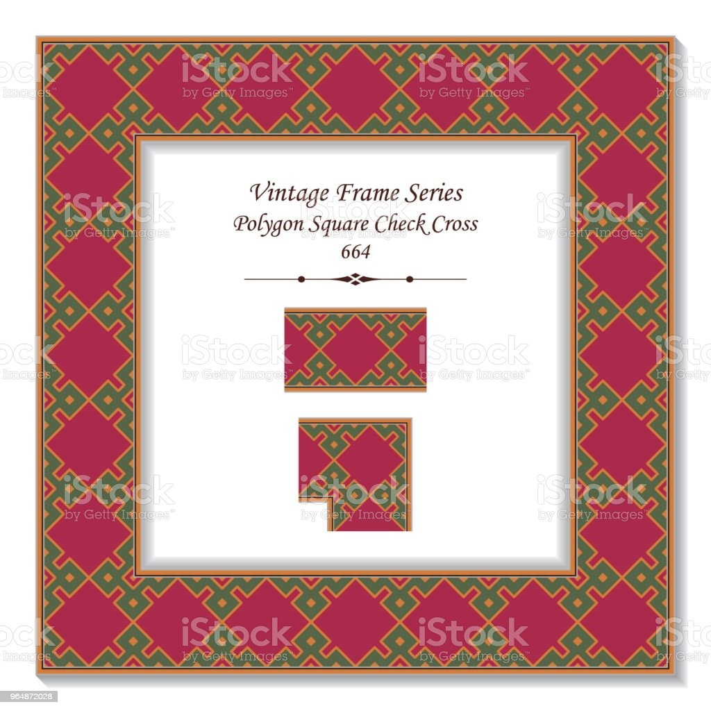Vintage square 3D frame polygon square check cross royalty-free vintage square 3d frame polygon square check cross stock vector art & more images of backdrop