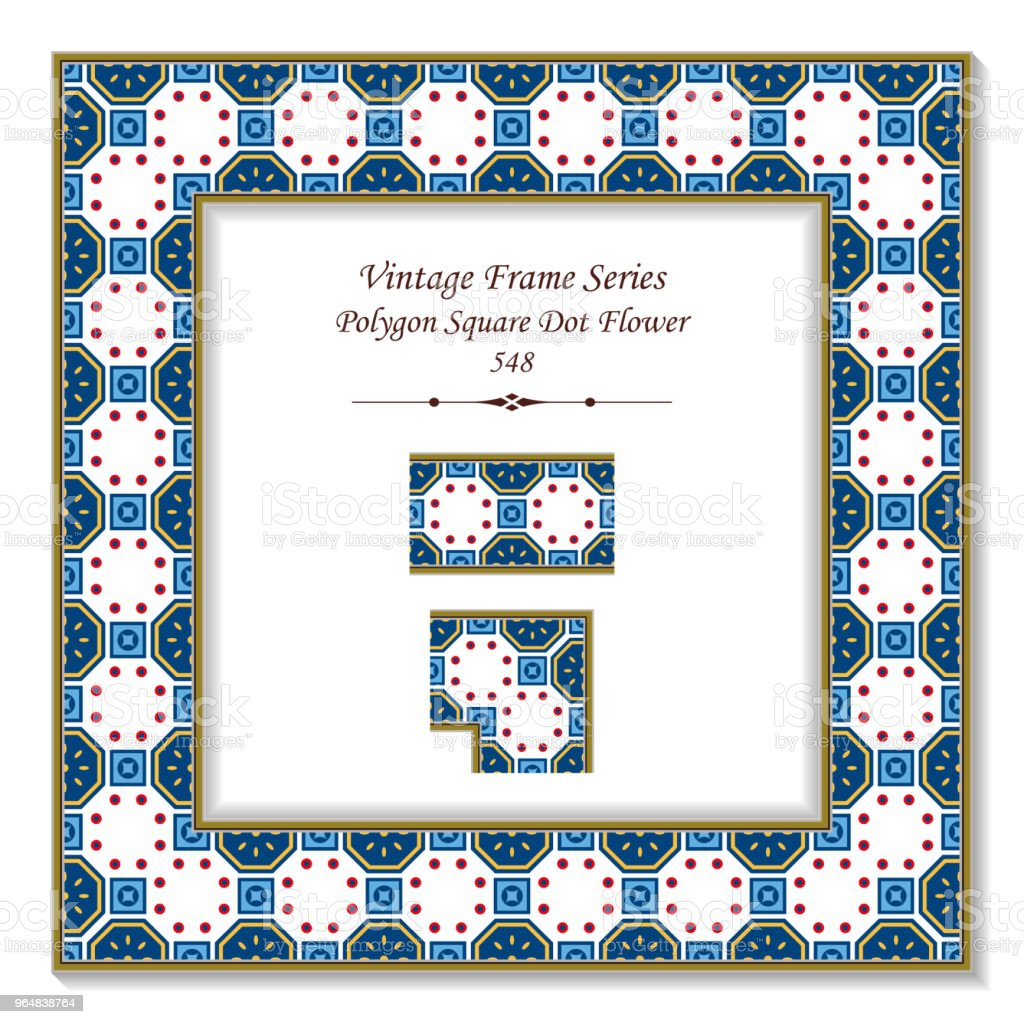 Vintage square 3D frame polygon square round dot cross flower royalty-free vintage square 3d frame polygon square round dot cross flower stock vector art & more images of backdrop - artificial scene