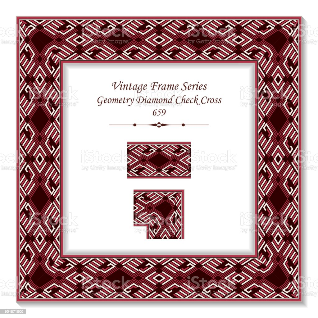 Vintage square 3D frame red geometry diamond check polygon cross royalty-free vintage square 3d frame red geometry diamond check polygon cross stock vector art & more images of backdrop - artificial scene