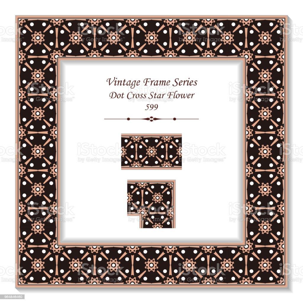 Vintage square 3D frame round cross dot star flower royalty-free vintage square 3d frame round cross dot star flower stock illustration - download image now