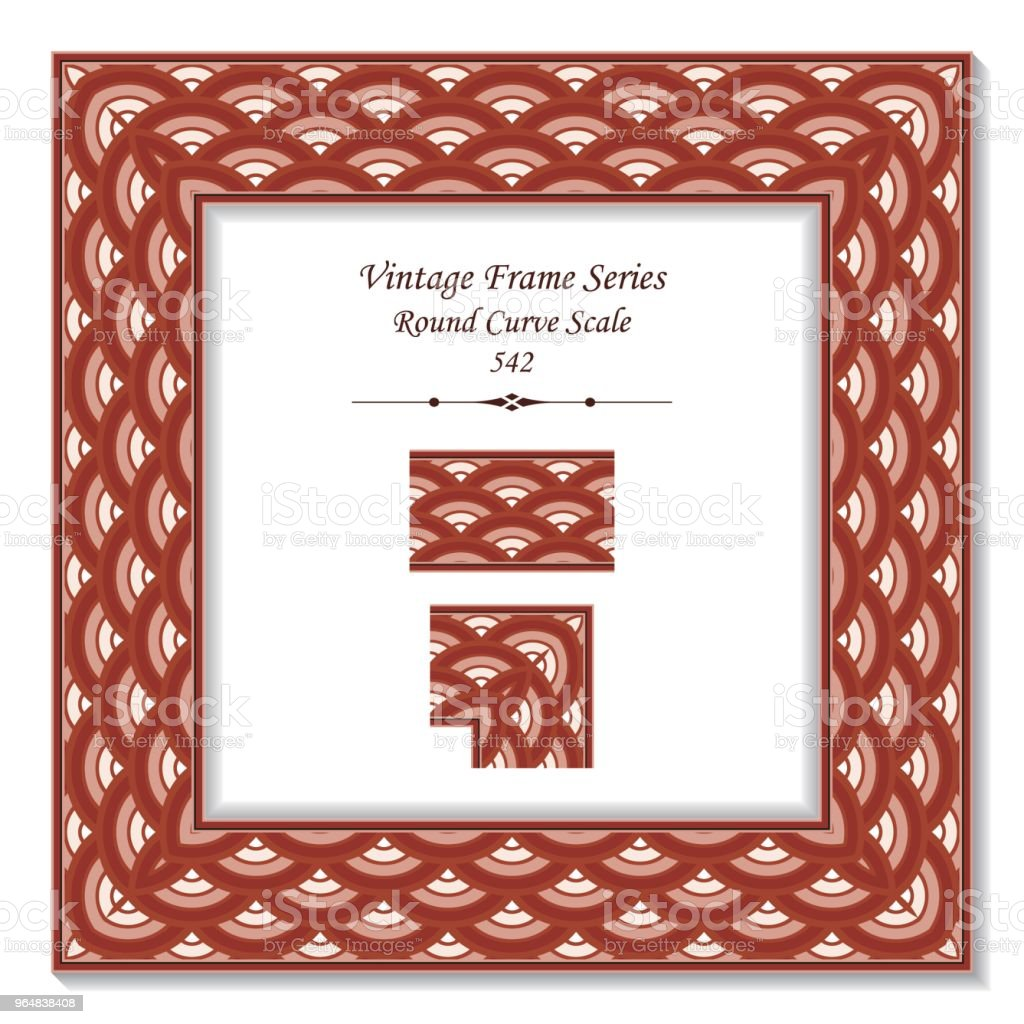 Vintage square 3D frame round cross red scale royalty-free vintage square 3d frame round cross red scale stock vector art & more images of backdrop - artificial scene