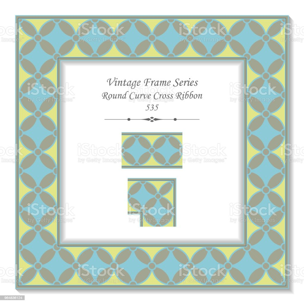 Vintage square 3D frame round curve cross ribbon royalty-free vintage square 3d frame round curve cross ribbon stock vector art & more images of backdrop - artificial scene