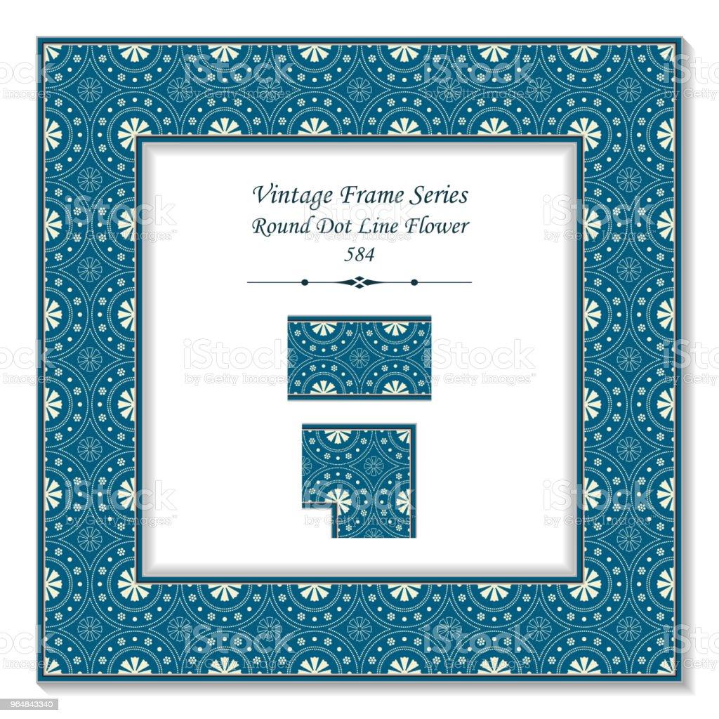Vintage square 3D frame round dot line flower royalty-free vintage square 3d frame round dot line flower stock vector art & more images of backdrop - artificial scene
