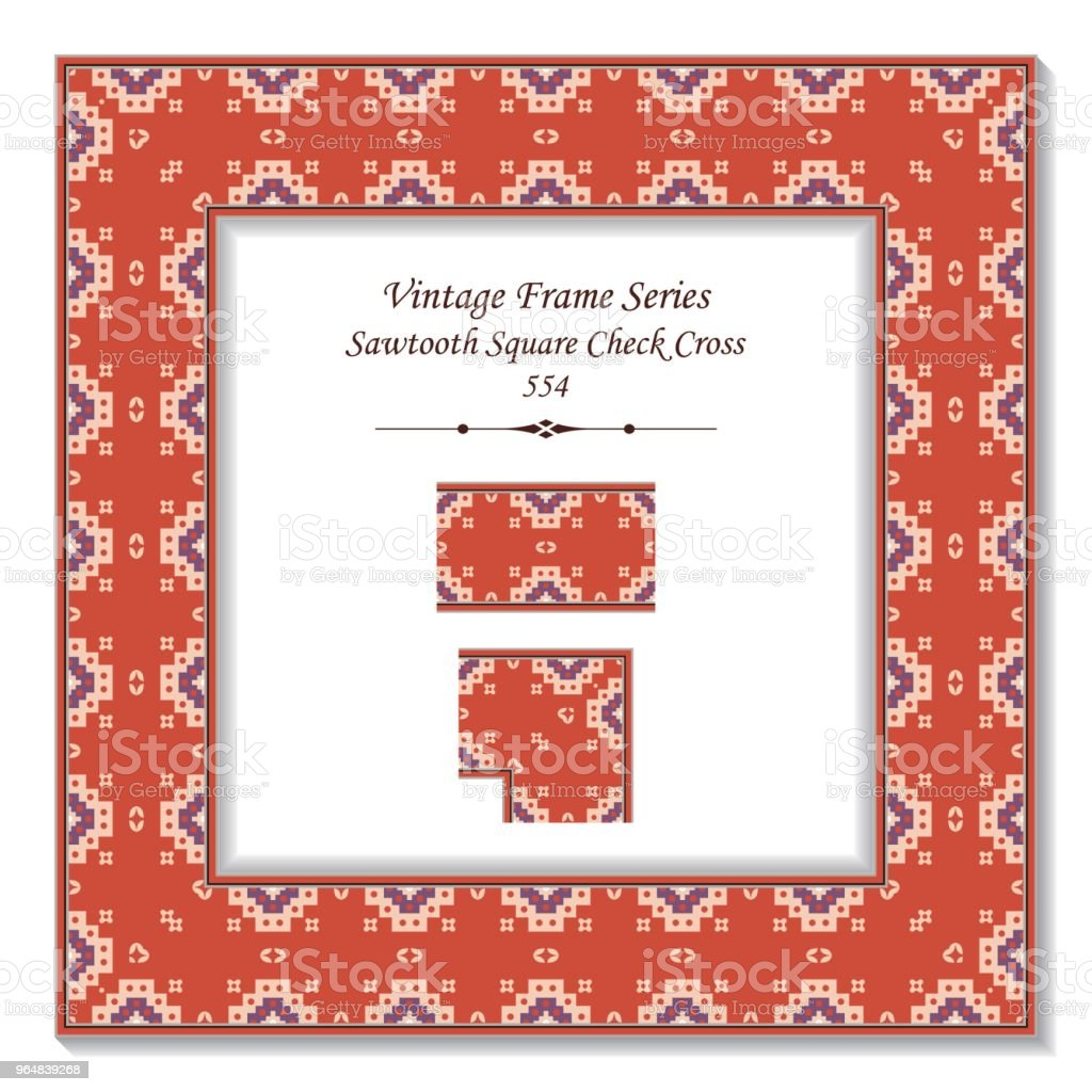 Vintage square 3D frame sawtooth square check cross dot royalty-free vintage square 3d frame sawtooth square check cross dot stock vector art & more images of backdrop - artificial scene