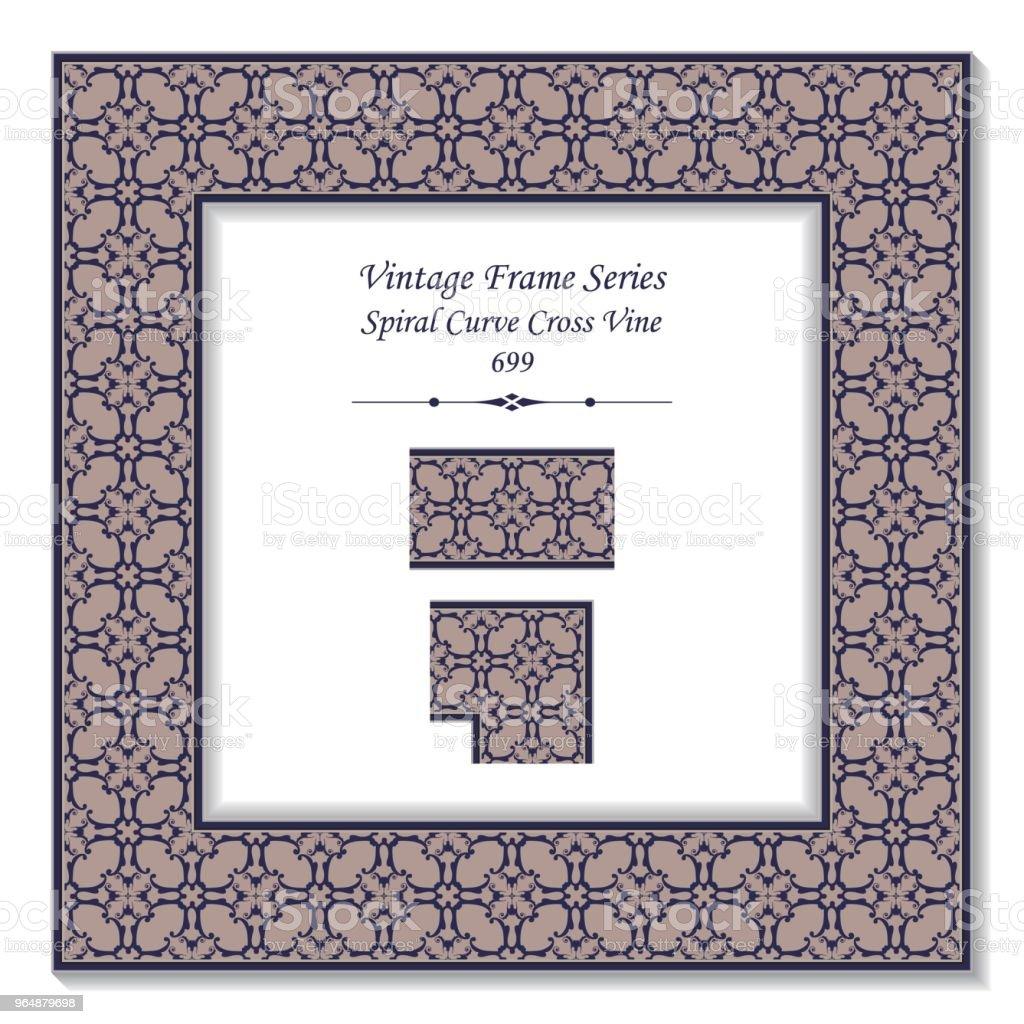 Vintage square 3D frame spiral curve cross vine royalty-free vintage square 3d frame spiral curve cross vine stock vector art & more images of backdrop - artificial scene