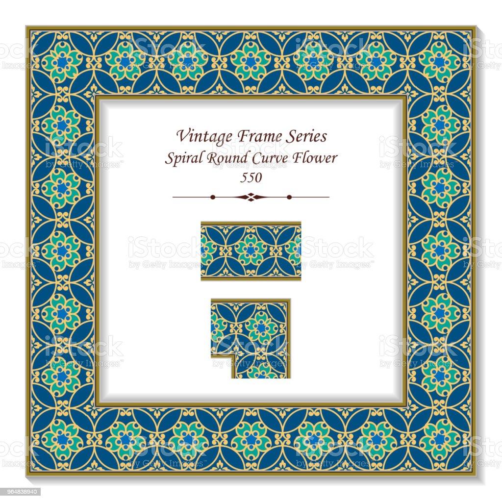 Vintage square 3D frame spiral round curve flower royalty-free vintage square 3d frame spiral round curve flower stock vector art & more images of backdrop