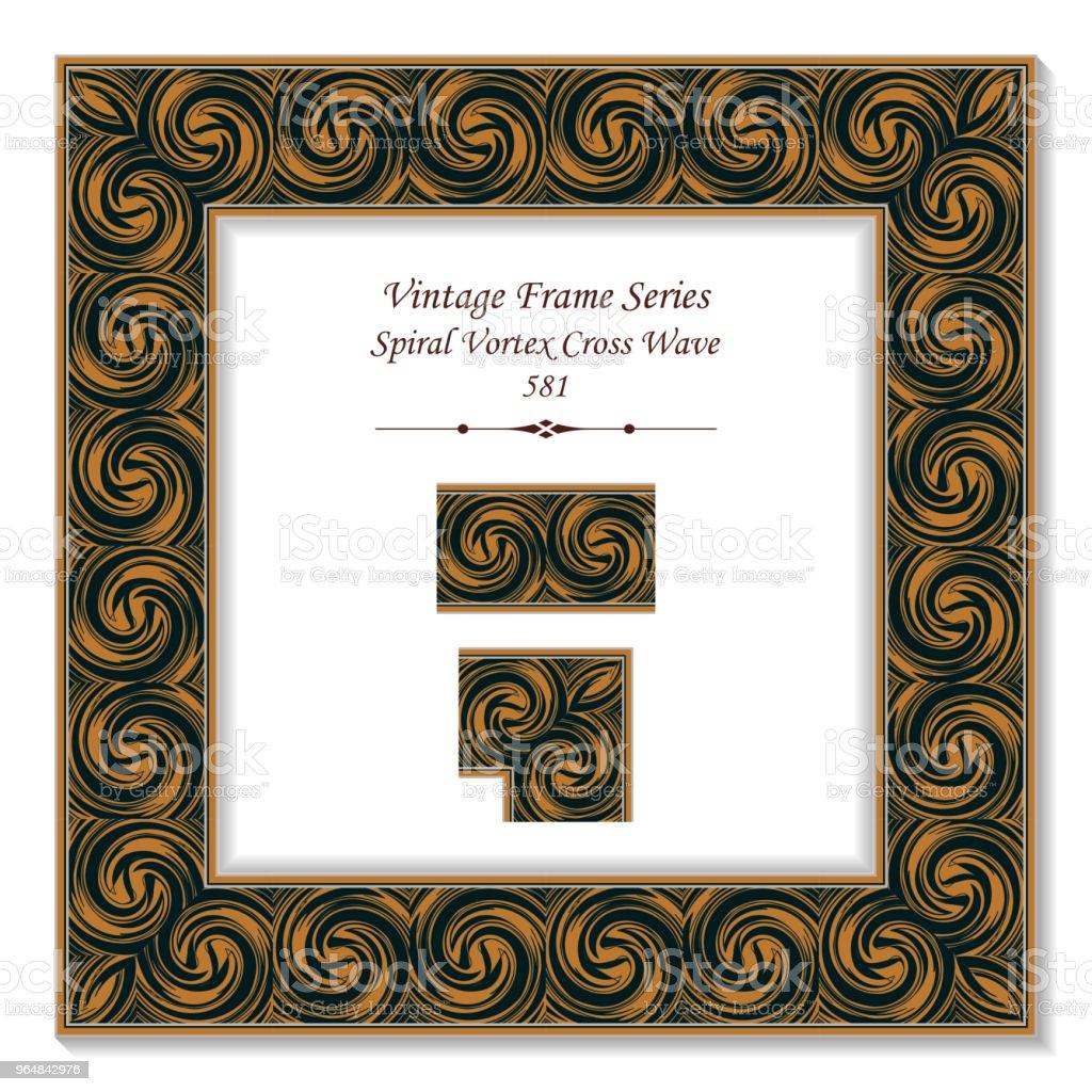 Vintage square 3D frame spiral vortex cross wave royalty-free vintage square 3d frame spiral vortex cross wave stock vector art & more images of backdrop