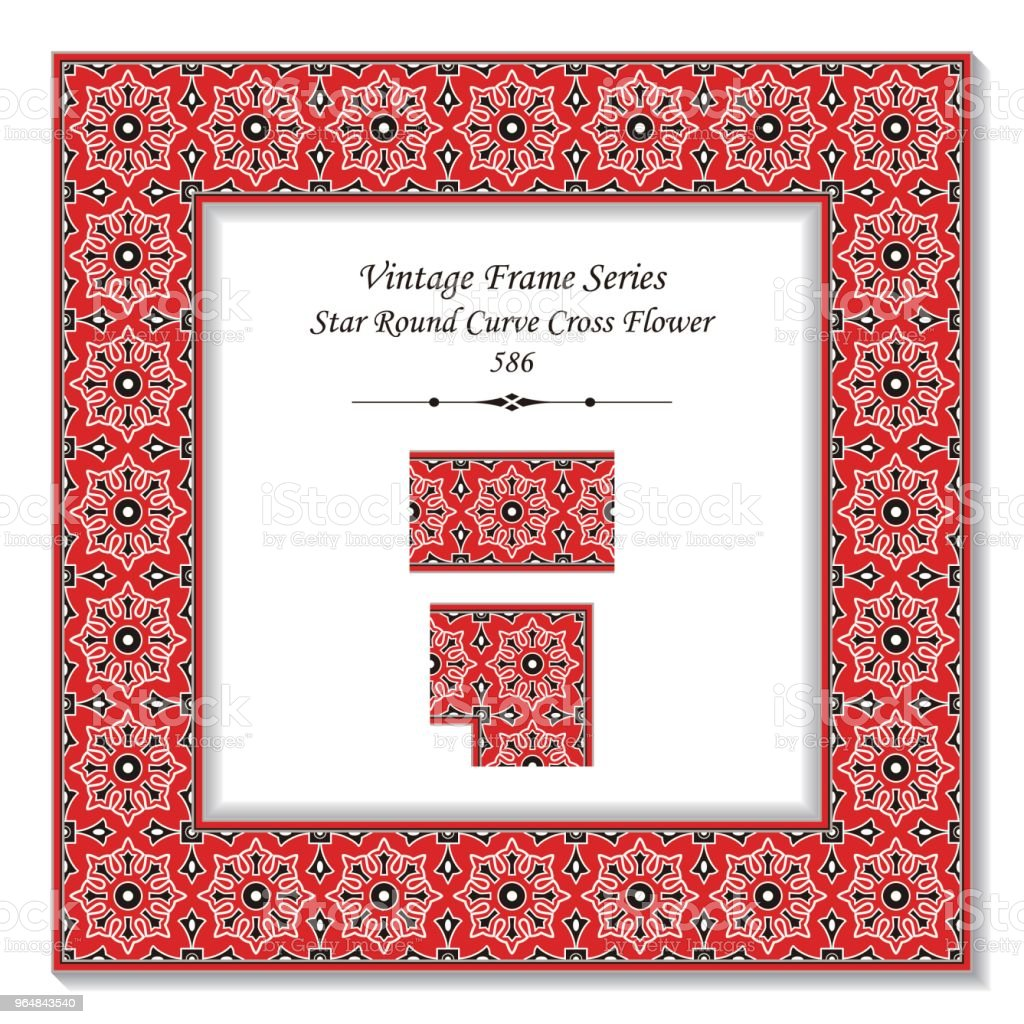 Vintage square 3D frame star round curve cross flower royalty-free vintage square 3d frame star round curve cross flower stock vector art & more images of backdrop - artificial scene