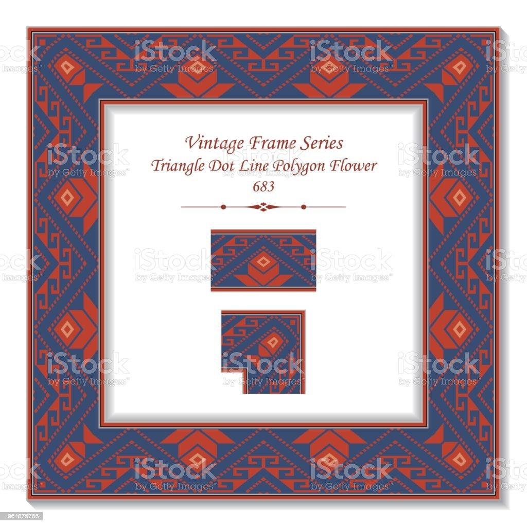 Vintage square 3D frame triangle dot line polygon flower royalty-free vintage square 3d frame triangle dot line polygon flower stock vector art & more images of baroque style