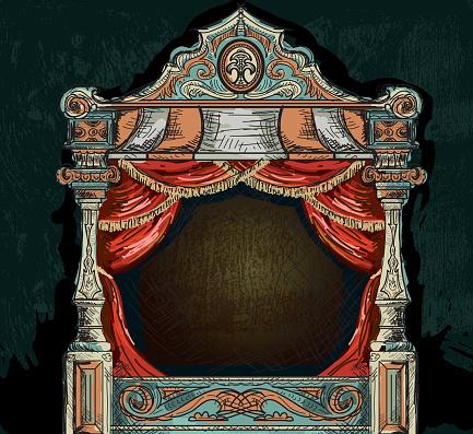 Vintage stage theatre design