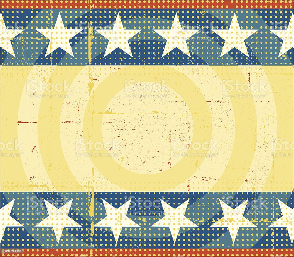 Vintage Stars and Stripes Background royalty-free stock vector art