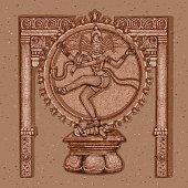 Vintage Statue of Indian Lord Shiva Nataraja Sculpture