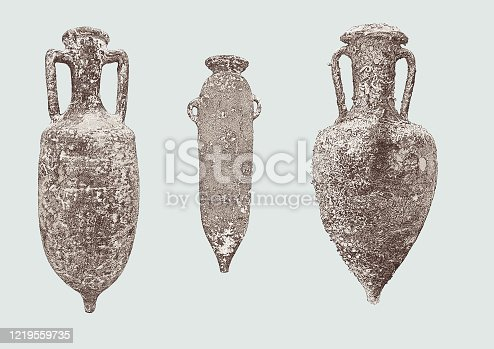 istock Vintage Storage Olive pots 1219559735