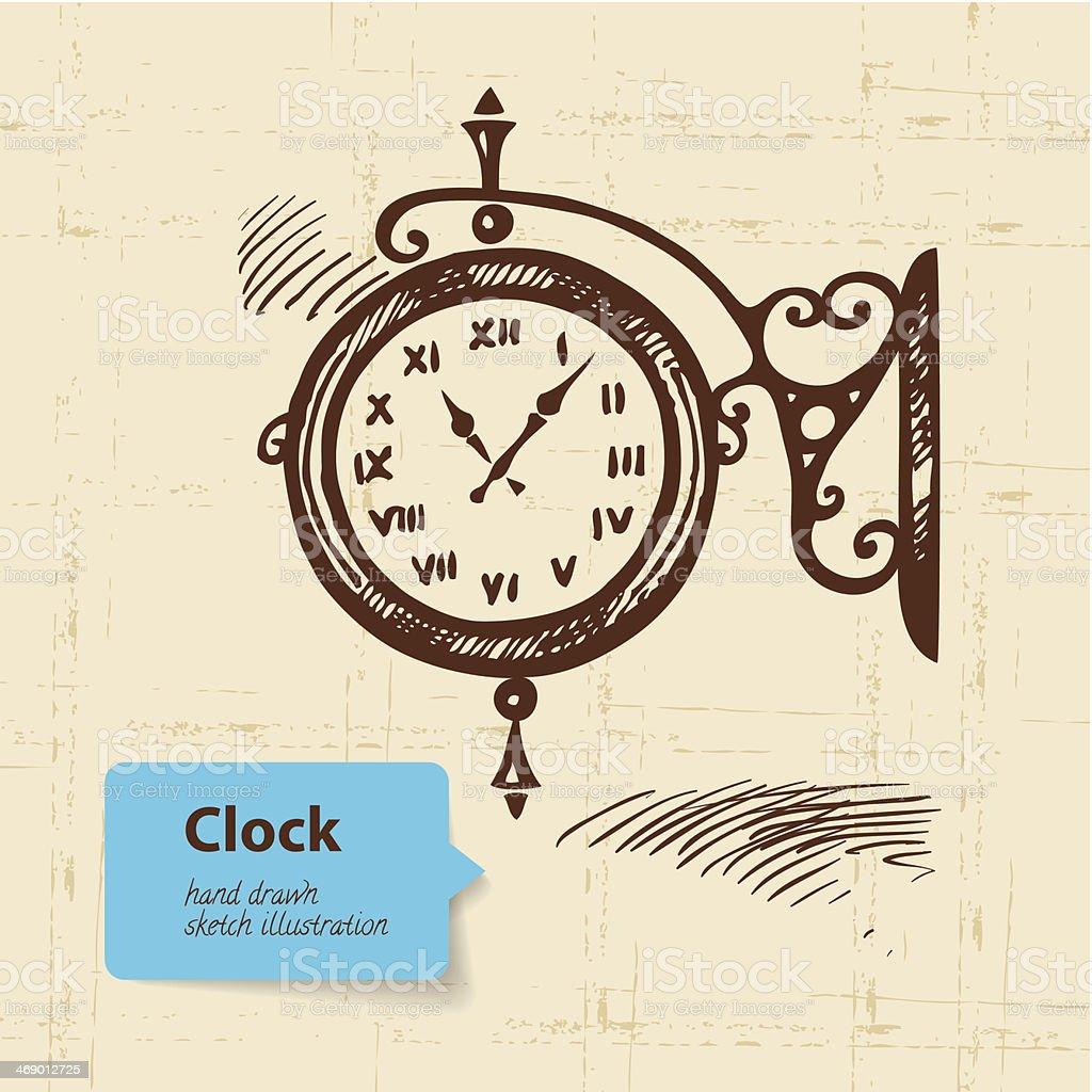 innovative design b3de3 e8322 Vintage Street Clock 向量插圖及更多一個物體圖片- iStock
