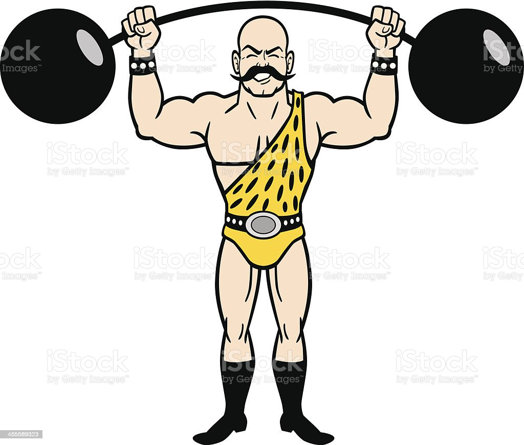 vintage strongman stock vector art more images of adult rh istockphoto com strong man clip art free circus strong man clipart