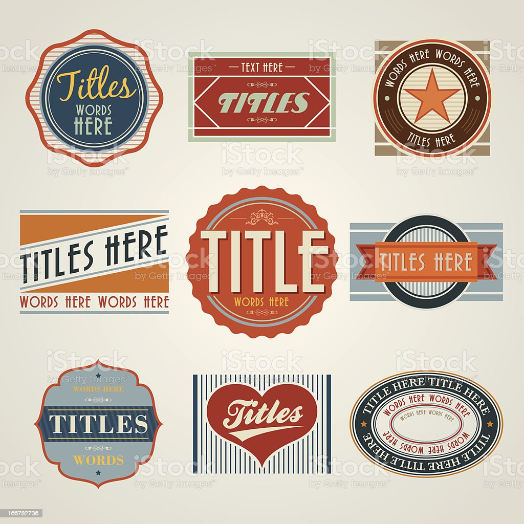 Vintage Style Badge royalty-free stock vector art