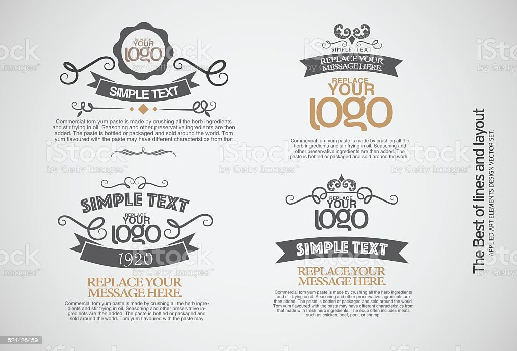 Vintage style badges in editable vector format-Illustrations. vector art illustration