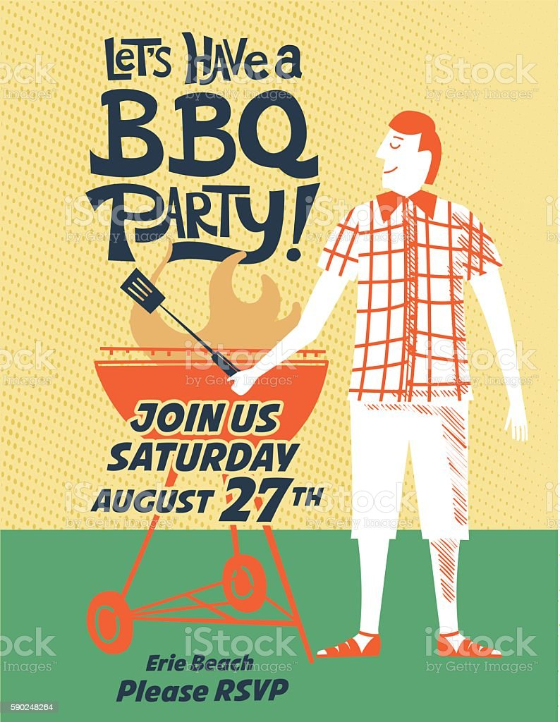 Vintage style bbq party invitation template arte vetorial de vintage style bbq party invitation template vintage style bbq party invitation template arte vetorial de stopboris Choice Image