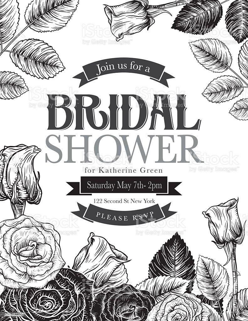 Vintage style botanical floral bridal shower invitation stock vector vintage style botanical floral bridal shower invitation royalty free vintage style botanical floral bridal shower filmwisefo