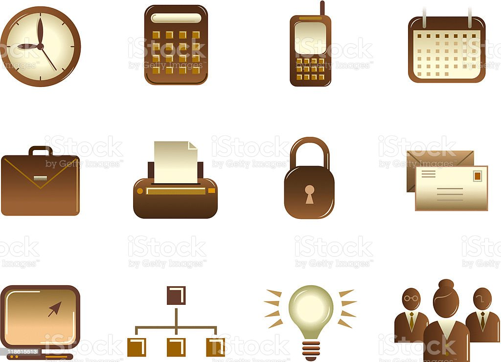 Vintage Style Business Icon Series 1 royalty-free stock vector art