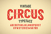 Vintage style Circus typeface