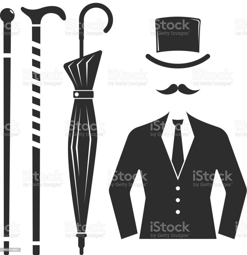 vintage style design hipster gentleman vector illustration black silhouette design mustache. Black Bedroom Furniture Sets. Home Design Ideas