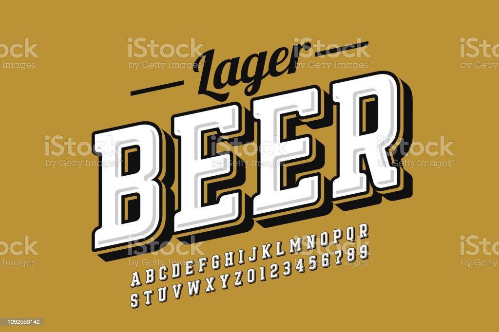 Vintage style font - Векторная графика Алкоголь - напиток роялти-фри