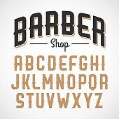 Vintage style font