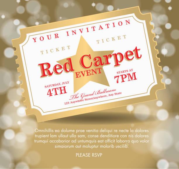 ilustrações, clipart, desenhos animados e ícones de estilo antigo golden tapete de modelo de convite - eventos de gala