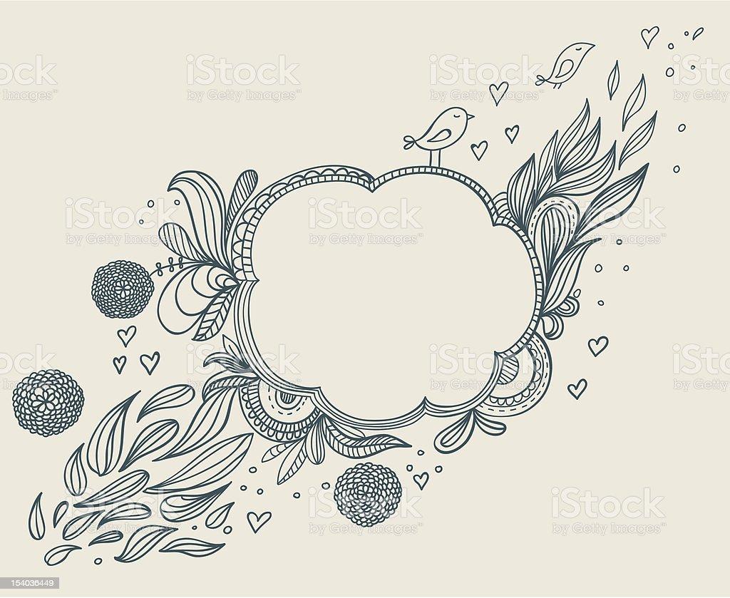 ビンテージスタイルの手書きフレーム のイラスト素材 154036449   istock