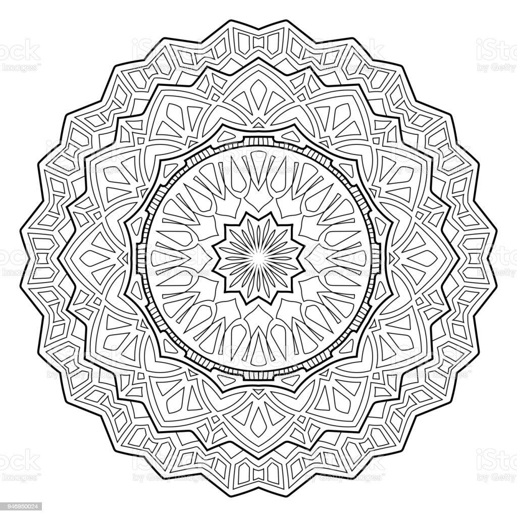 Vintage Tarzi Mandala Desen Soyut Geometrik Sekiller Kitap Sayfa