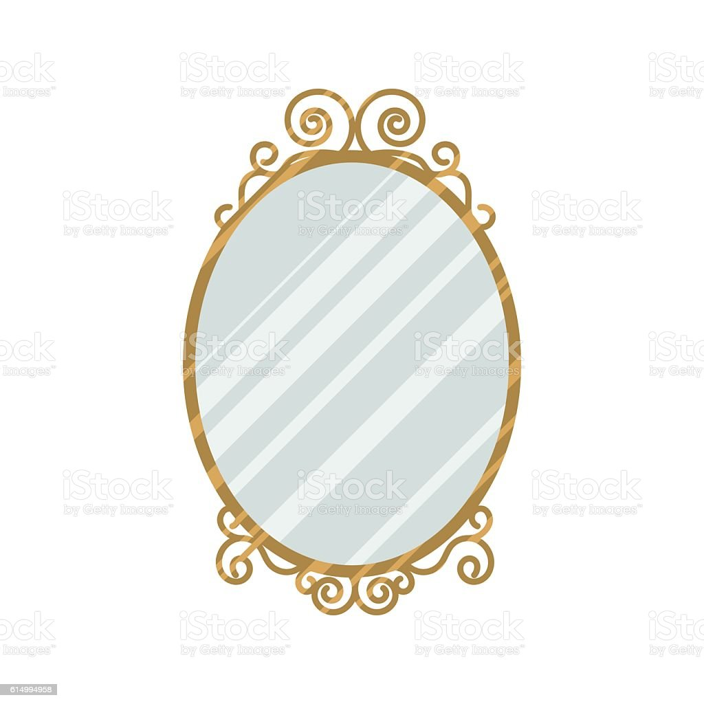 Vintage style mirror vector illustration. vector art illustration