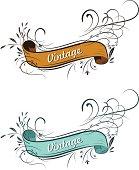 Vintage Style Ribbon Banner
