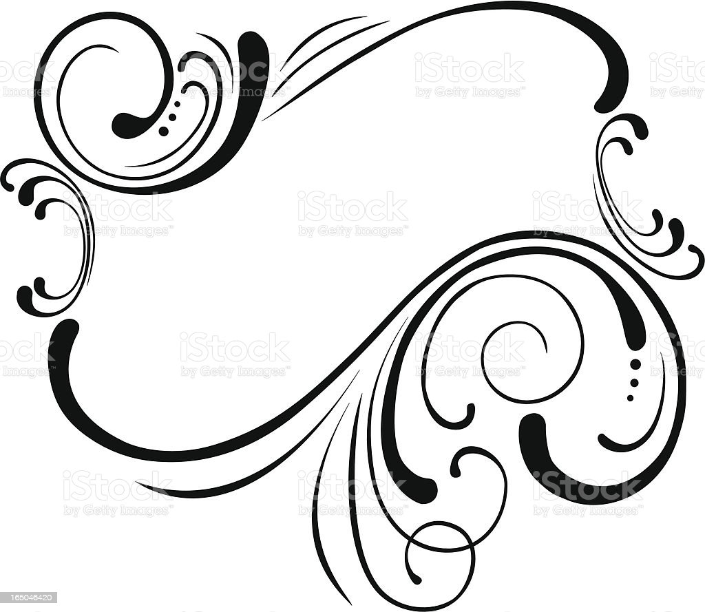 Vintage Style Scroll Frame Stock Vector Art & More Images of Art ...