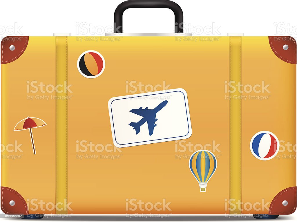 Vintage suitcase with funky stickers royalty-free vintage suitcase with funky stickers stock vector art & more images of activity