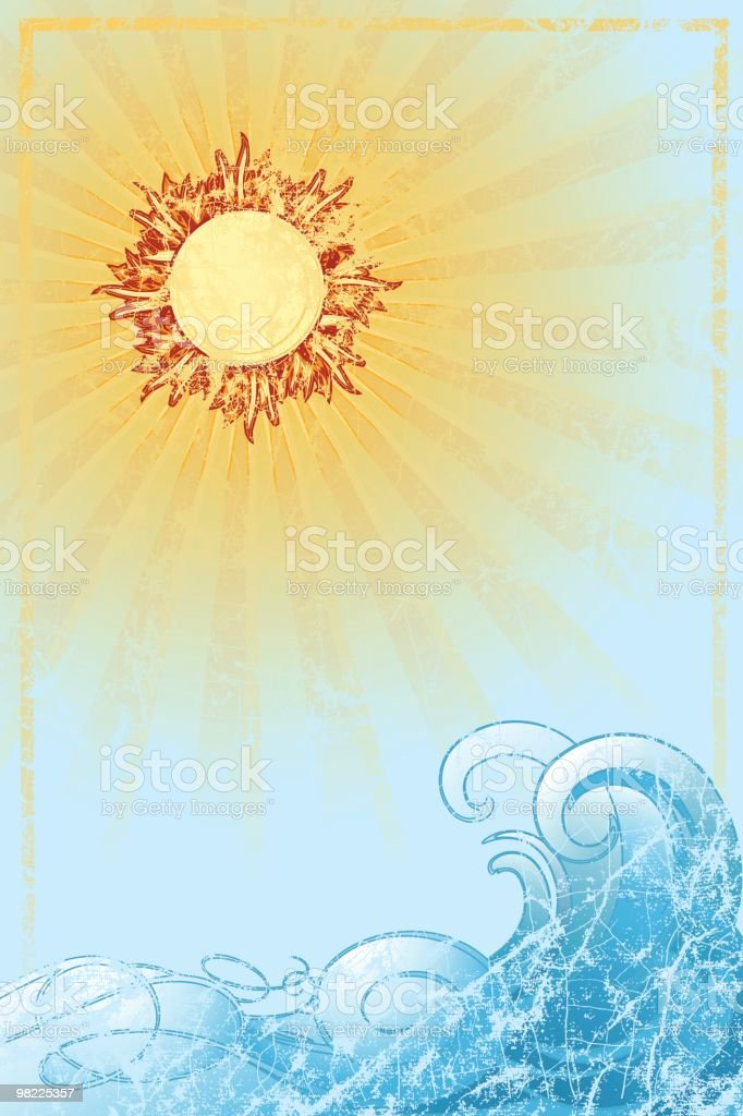 Vintage Sun and Surf royalty-free vintage sun and surf stock vector art & more images of 12 o'clock