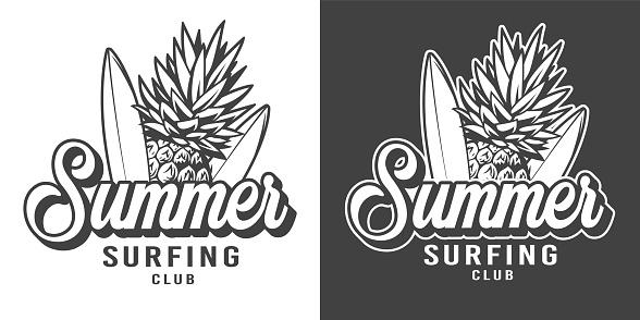 Vintage surfing club badge