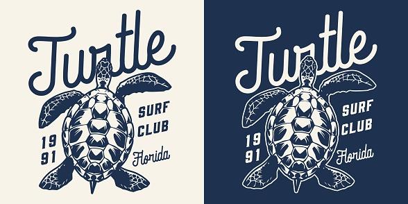 Vintage surfing club monochrome print
