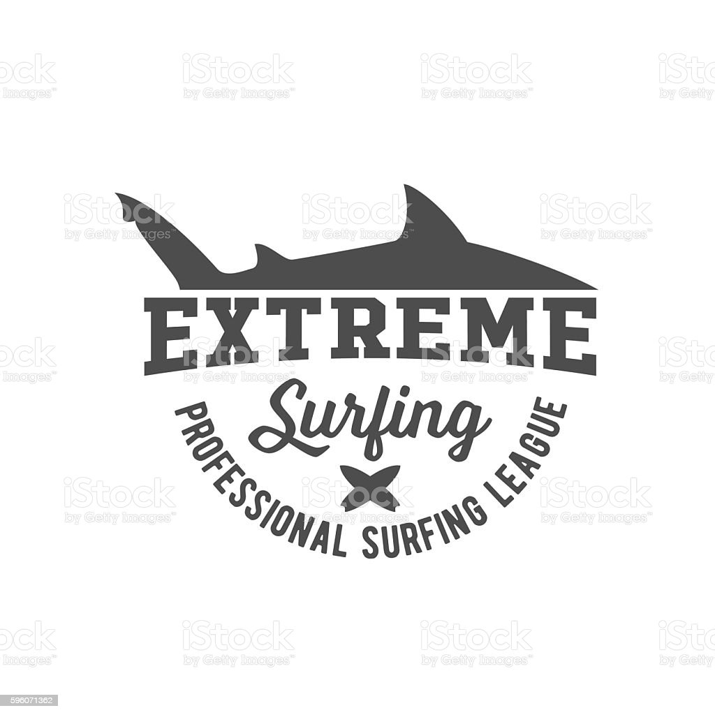 vintage surfing label, badge and emblem royalty-free vintage surfing label badge and emblem stock vector art & more images of arts culture and entertainment